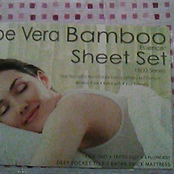 Aloe Vera Essence Other Aloe Vera Bamboo Sheet Set 1800 Series